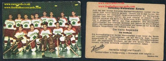 1960 Heinerle ice hockey Canada '58 world championships team